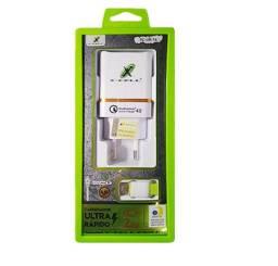 Carregador Celular Ultra Rápido Micro Usb V8 2 USB 4.0A - 7718