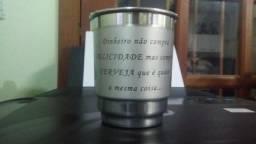 Personalização de caneca de alumínio e caneca de cerâmica