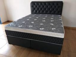 Cama Box Queen selectus Semi Ortopédico com Cabeceira Estofada