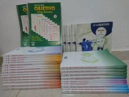 Apostilas Objetivo, Cadernos de Resumo e Cadernos de Exercícios. Prova. Vestibular