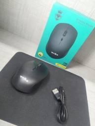 Mouse Sem Fio Recarregável Dpi 1600/2400/3200 2.4ghz
