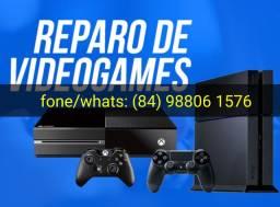 Xbox one e PlayStation 4 consertos