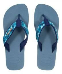 Chinelo Havaianas Surf - Azul Prateado 37/38.