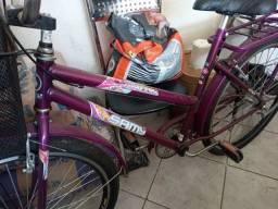Bicicleta feminina de adulto com cestinho NOVA