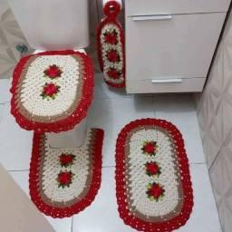 Título do anúncio: Jogo de tapete para banheiro em crochê