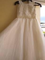 Vestido de dama renda e filo