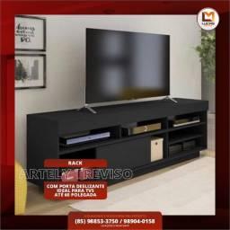 Título do anúncio: Rack Artely Treviso com Porta deslizante, ideal para TVs até 60 P. - Entrega Imediata;