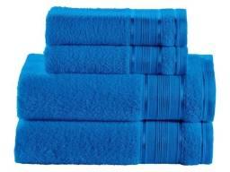 Jogo de Toalha de Banho Santista Royal Knut Azul Royal - 100% Algodão 4 Peças