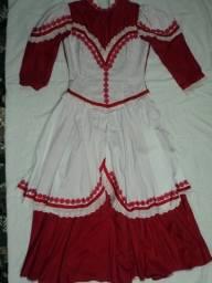 Vestido de Prenda vermelho e branco tamanho 42