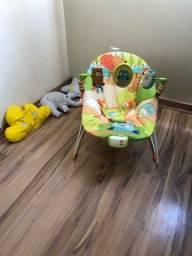 Título do anúncio: Cadeirinha Descanso Bright Starts Unissex Toca Vibra !!! Ac cartão