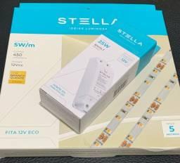 Título do anúncio: Fitas Led Profissional 5w/m 2700k Ip20 12v 400lm-5m Stella