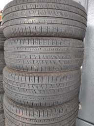 Título do anúncio: Kit com 4 pneus 225/60 R18 pirelli scorpion verde usados