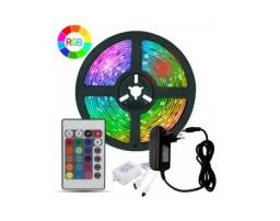 Kit completo Fita Led 10Mts colorida com controle remoto