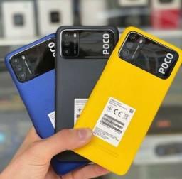 Título do anúncio: Xiaomi Poco M3 de 128GB E 64GB Global* + Capinha + Película+ Fone Garantia Entrego