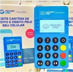 Título do anúncio: Maquininha de Cartão do Mercado Pago - nova Point Blue (bluetooth)