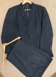 Título do anúncio: Terno Masculino Preto La Camiceria sem detalhes (+03 gravatas).