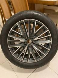 Título do anúncio: Jogo de rodas aro 19 + 4 pneus novos 235/50 R19 rodas zero km Audi Q3 Black Edition 2021