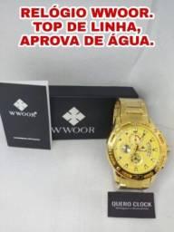 Título do anúncio: PROMOÇÃO RELÓGIO WWOOR APROVA DE ÁGUA. ENTREGA GRÁTIS.