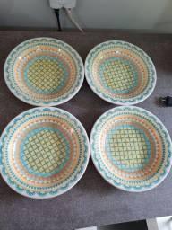 Pratos fundos cerâmica