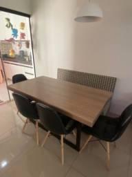 Título do anúncio: Mesa 6 lugares (4 cadeiras + 1 banco)