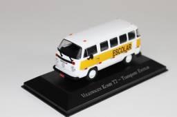 Miniatura carrinho Volkswagen Kombi T2 - Transporte Escolar