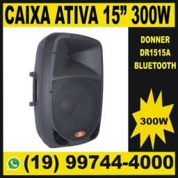 """Título do anúncio: Caixa de Som Ativa Amplificada 15"""" Bluetooth Donner DR1515A 300w."""