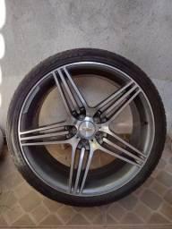 Rodas aro 20 com pneus meia vida 5.114