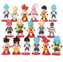Dragon Ball Z Kit 16 Miniaturas Dragonball Boneco Goku Black Broly Vegeta Majin Boo Freeza
