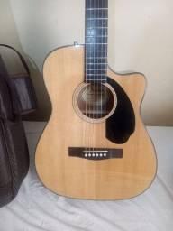 Violão Fender cc60 sce classic eletroacústico, afinador e capa de couro, novo