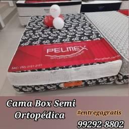 Título do anúncio: cama box casal _ com 5cm de espuma _ //
