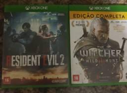 Título do anúncio: Residente evil 2 remake e the witcher 3 edição especial