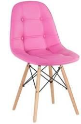 Cadeira botonê rosa chiclete. Entrega grátis em toda Macaé.