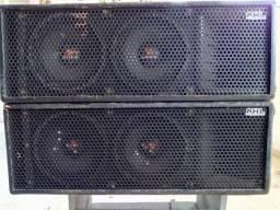 Line Array LA 8'  700 Passiva 2 X 8   +  TI +  Bumper (Base de fixação superior )