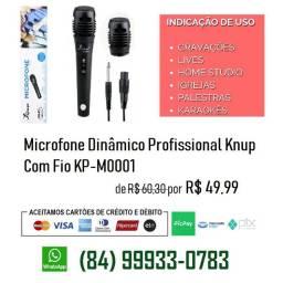 Microfone Dinâmico Profissional Knup c/ Fio KPM001