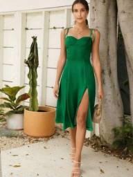 Título do anúncio: Vestido Boho Verde Esmeralda