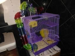 Título do anúncio: Gaiola Hamster Tubo Labirinto 3 Andares Luxo - Jel Plast
