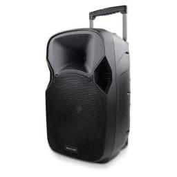 Caixa de som amplificada, com Bluetooth e bateria interna