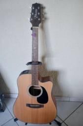 Violão Takamine GD15vendo violão Takamine GD15 MCE-NS, modelo folk, aço, eletroac folk top