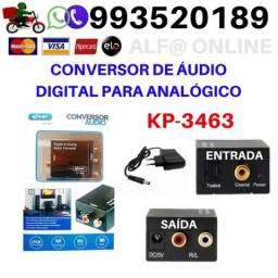 Conversor de Áudio Digital para Analógico Kp 3463 Knup para sua Tv moderna cabo otico