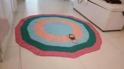 1 metro e meio de diametro tapete de croche lindo . vai