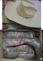 Bota texana/chapéu