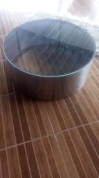 290 reais, troco por celular,Mesa de centro de inox com vidro temperado de 10mm