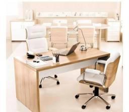 Jogo poltrona executiva / cadeiras para consultório ou escritório (semi-novo)