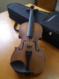 Violino Vogga VON144N 4/4 Verniz Translúcido Avermelhado com Case e Arco