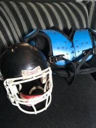 Helmet e shoulder semi novos