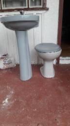 Vaso sanitário com pia já co torneira
