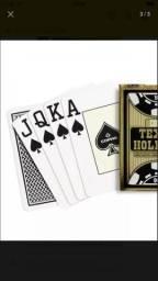 Baralho Novo Preto Copag Texas Holdem 100% Plástico Poker