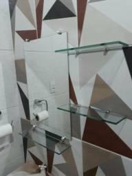 Espelho de 60x35 com 3 pratileiras so 80 reais