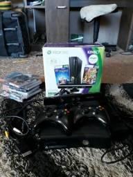 Xbox 360 +Desbloqueado +Dois Controle +Kinect
