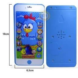 Celular Infantil Iphone Galinha Pintadinha 3d De Brinquedo musical educativo inteligente